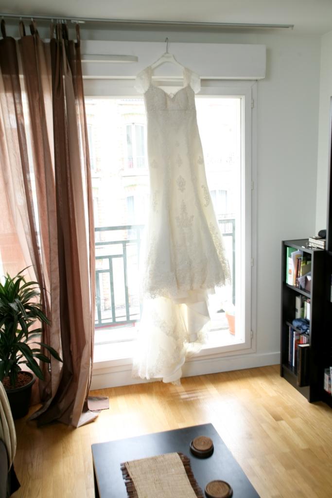 robe adela pronovias ornée de dentelle