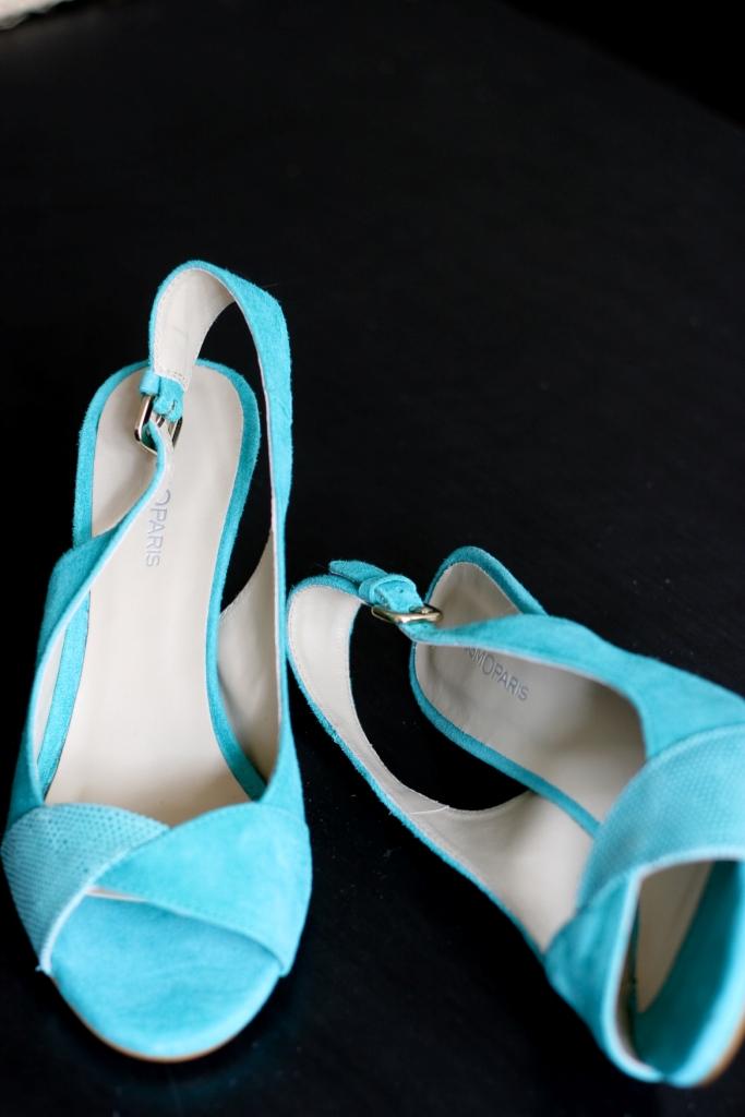 Chaussures mariage bleues cosmoparis