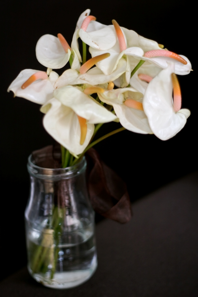 bouquet anthurium blanc