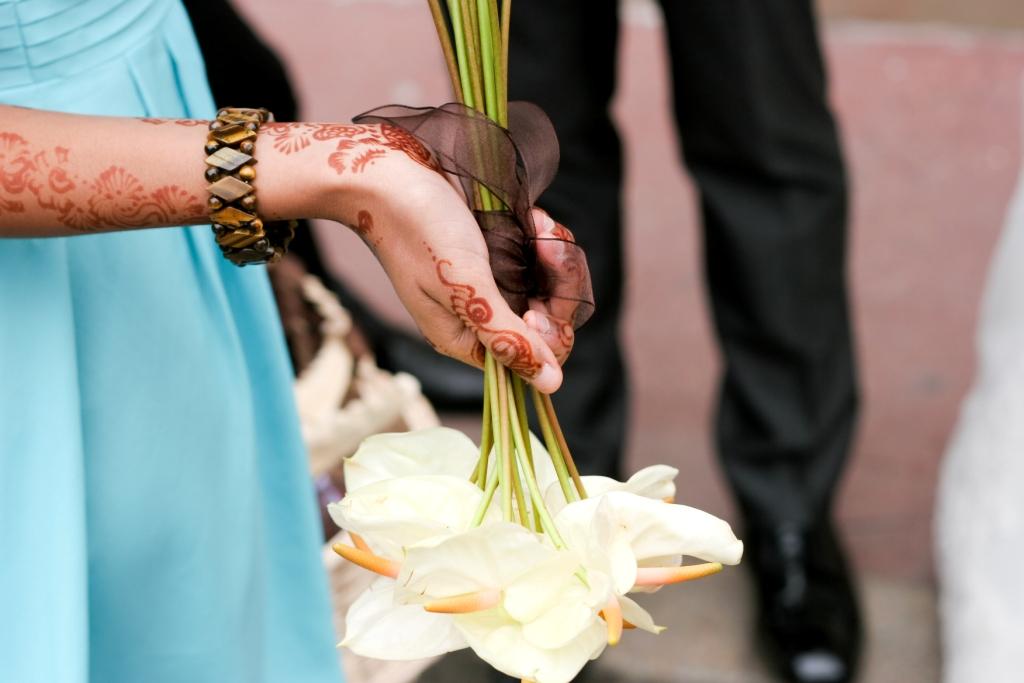 bouquet anthuriums blanc
