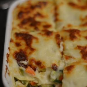 Comfort food: lasagne blanche végétarienne