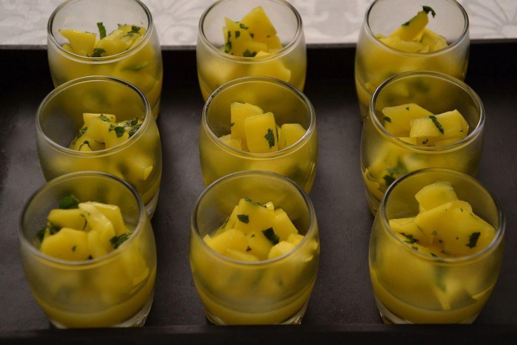 verrines mangue menthe