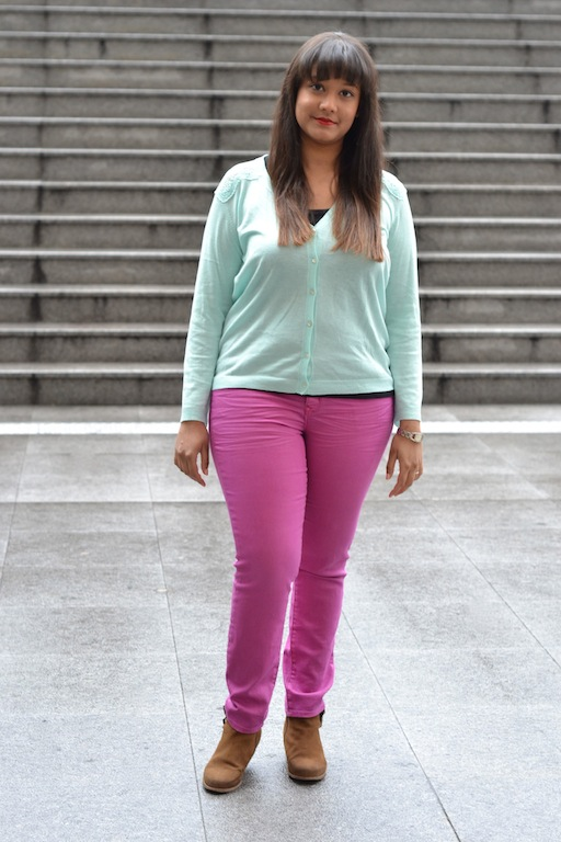 gap jeans, couleur, rose