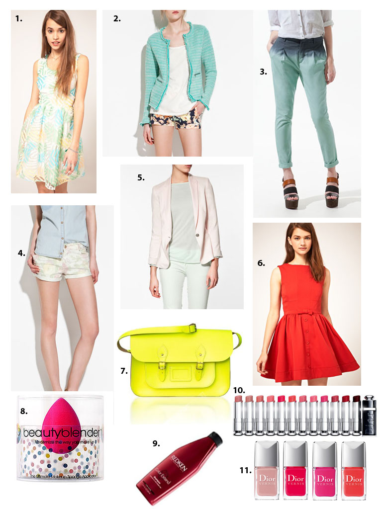tendances printemps 2012, spring 2012 trends