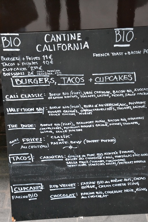 menu burger cantina california