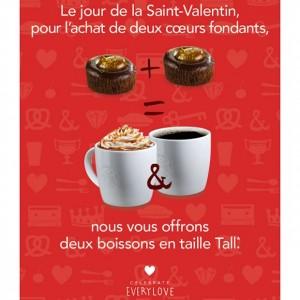 Une petite pause au Starbucks pour la St-Valentin