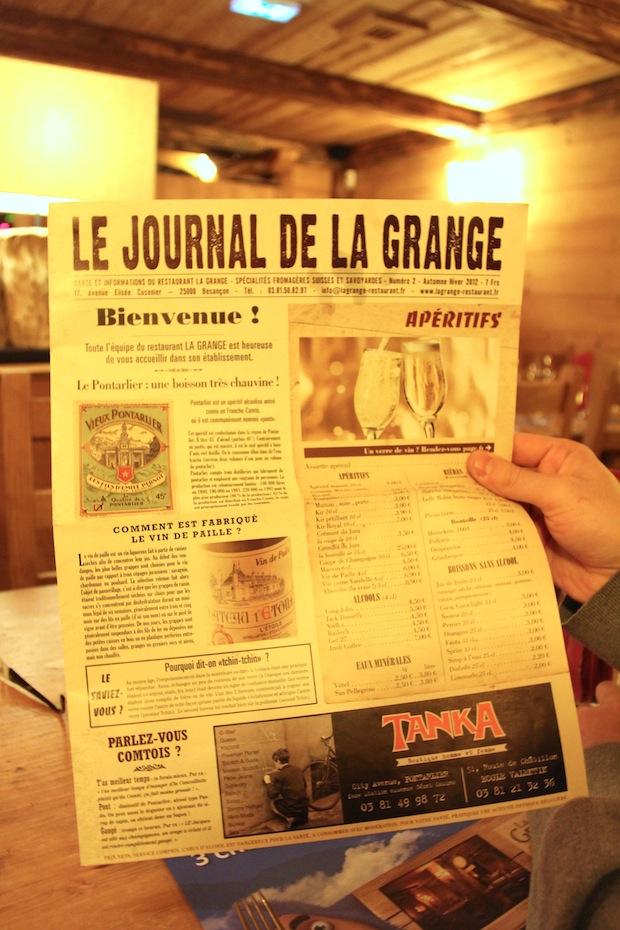 Restaurant La Grange Besançon