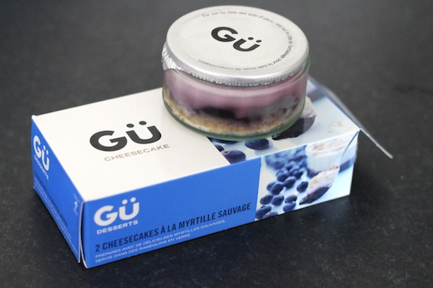 Gu cheesecake myrtilles