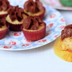 Mini cupcakes chocolat-noisette