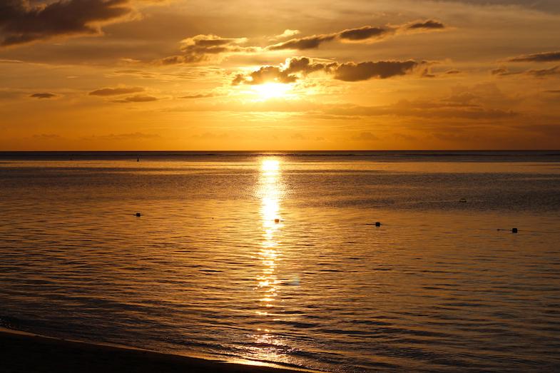 Coucher de soleil ouest Ile Maurice