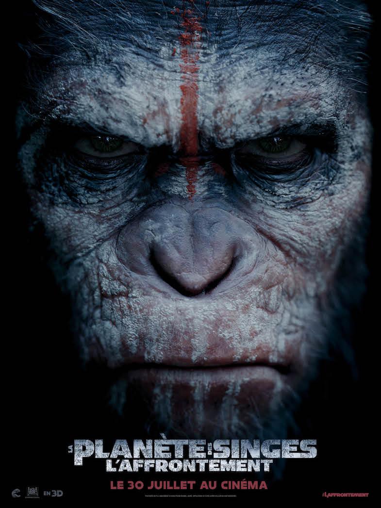 Affiche planete des singes laffrontement 1