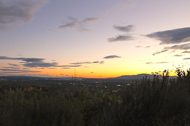 Coucher de soleil toscane Italie