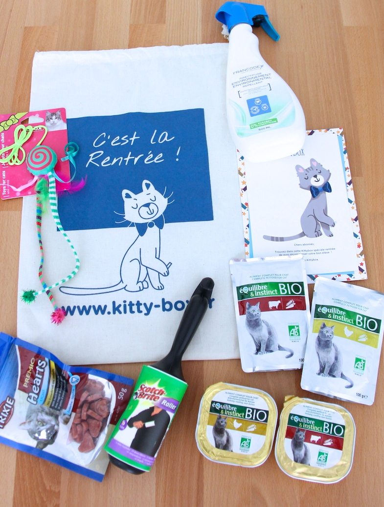 Kittybox septembre rentree 2014 contenu