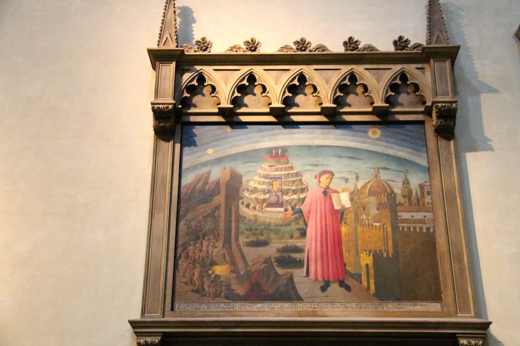 Guide Florence-25 Duomo Dante expliquant la Divine Comédie