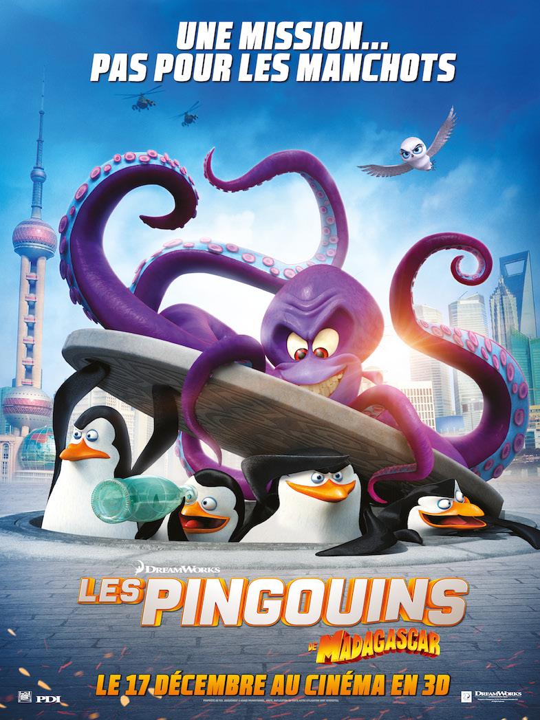Affiche Les Pingouins de Madagascar