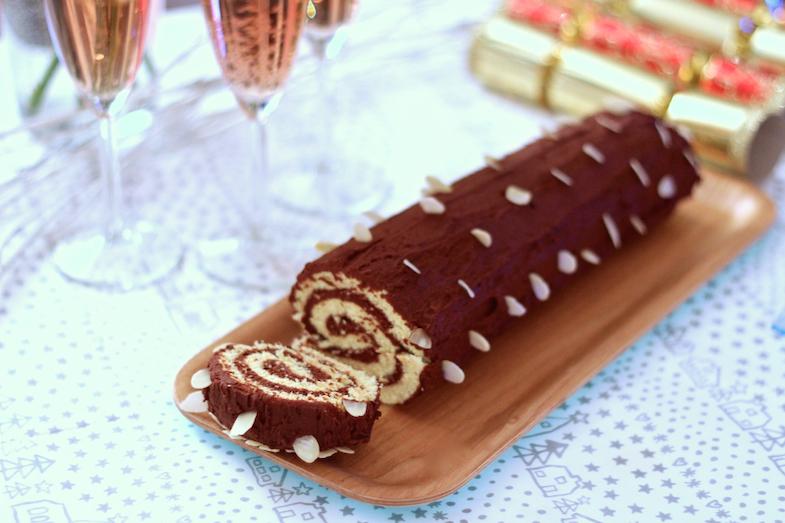 Recette facile buche mousse chocolat amandes