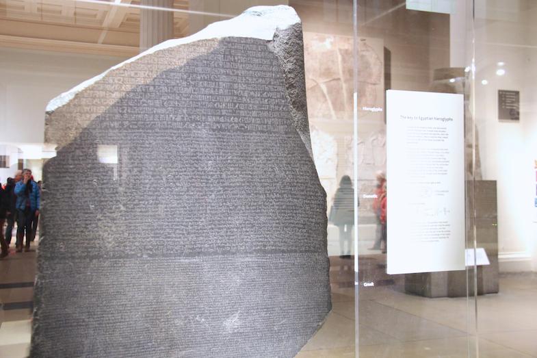 British Museum Londres London pierre de Rosette