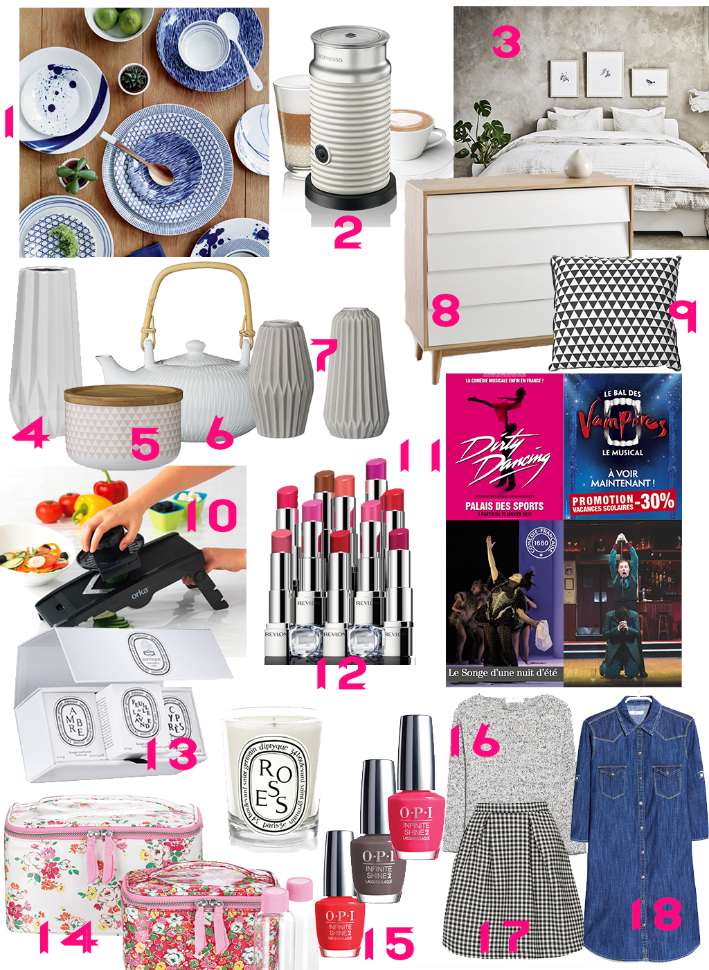 Wishlist anniversaire birthday beaute mode deco