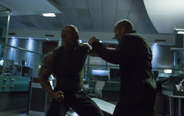 Dwayne Johnson Jason Statham fast and furious 7