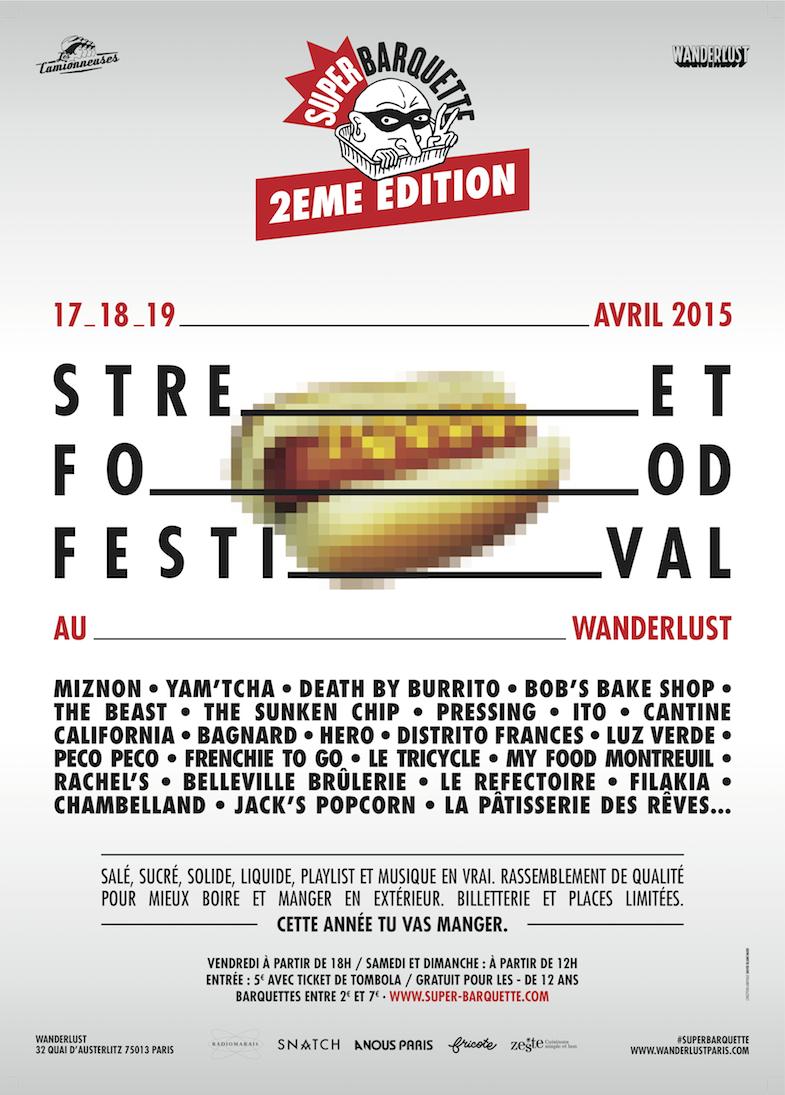 Affiche Superbarquette Wanderlust Paris 2015