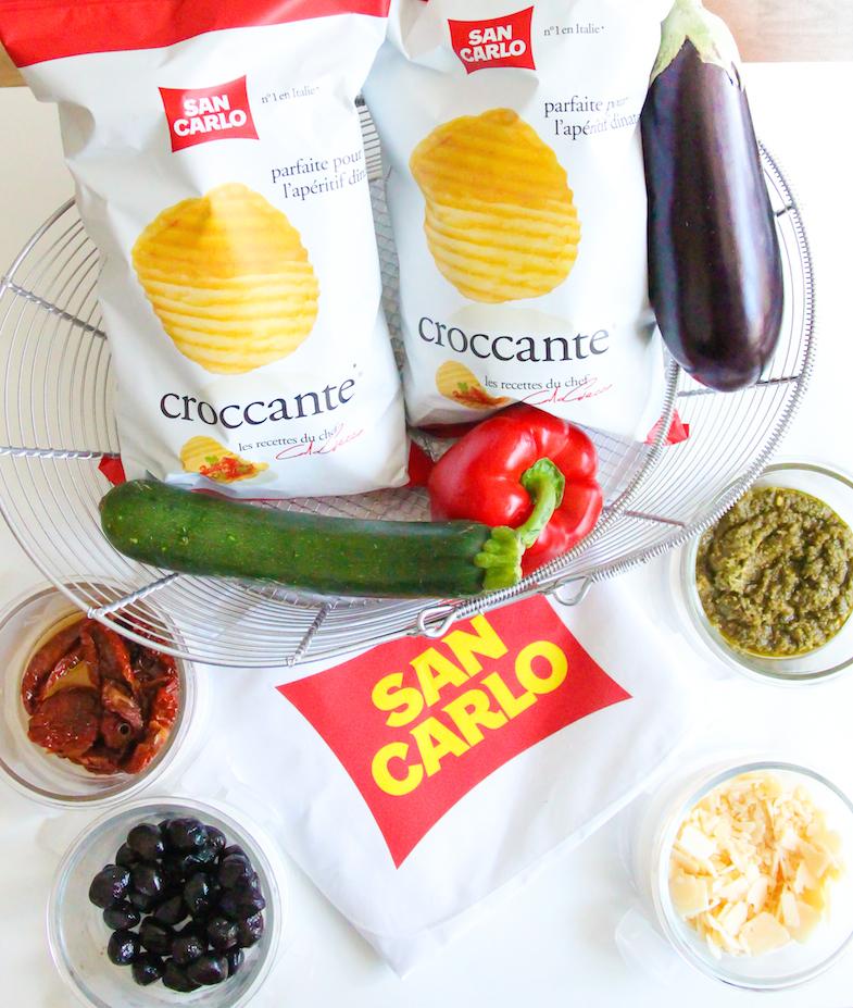 Recette chips San Carlo Asperges bresaola