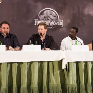 La conférence de presse de Jurassic World, Paris