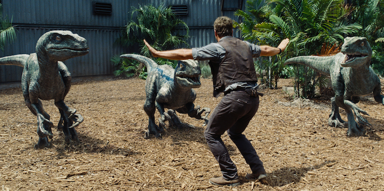 Critique avis Jurassic World Pratt velociraptors