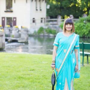 Le sari turquoise