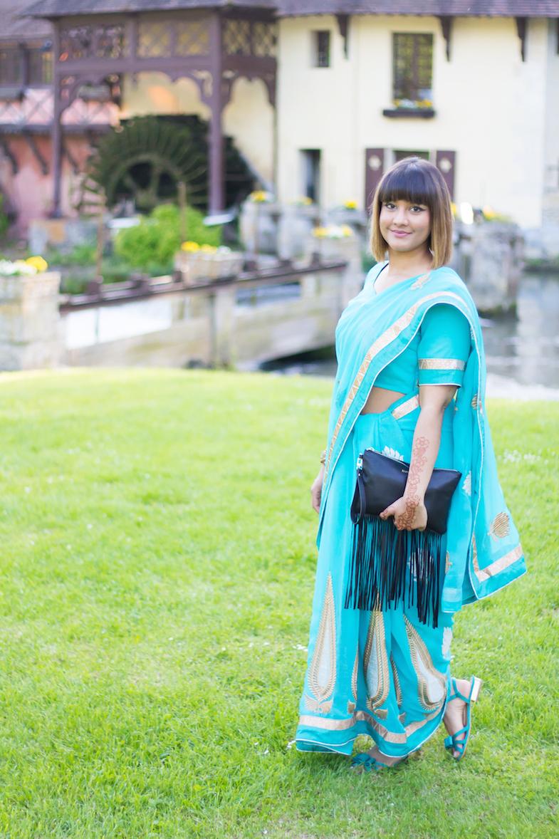 Sari turquoise-10