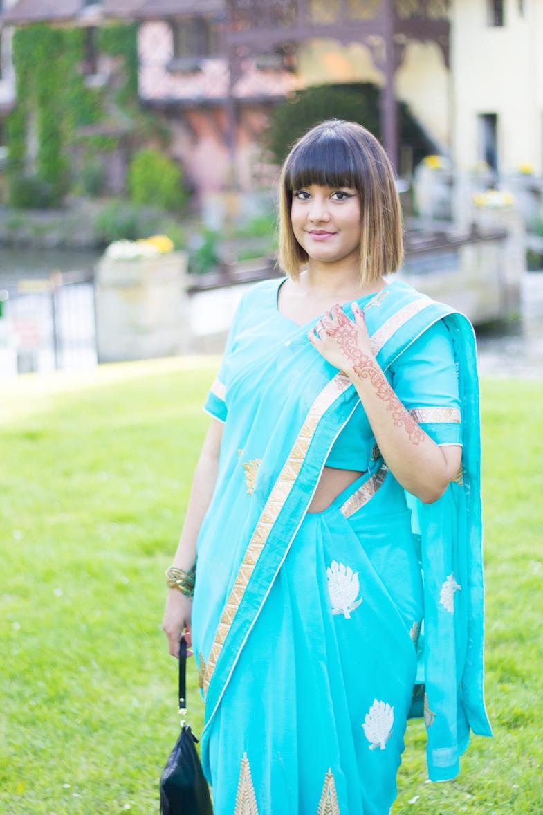 Sari turquoise-4