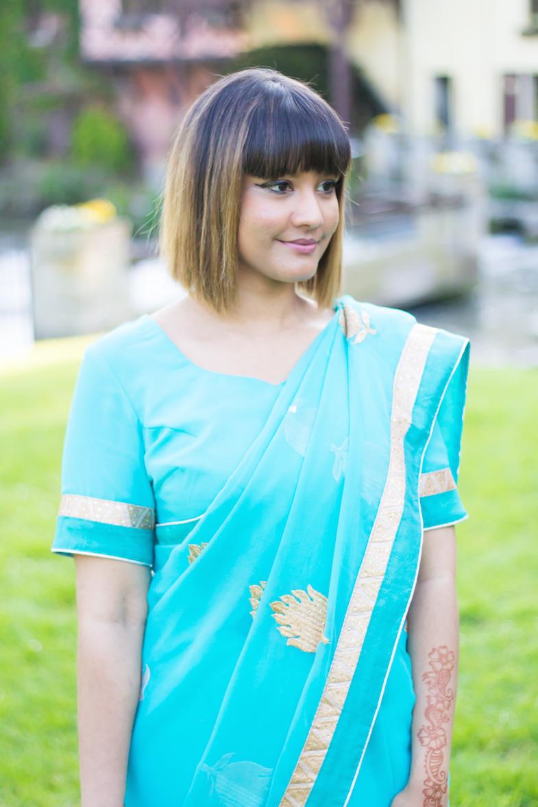 Sari turquoise-7