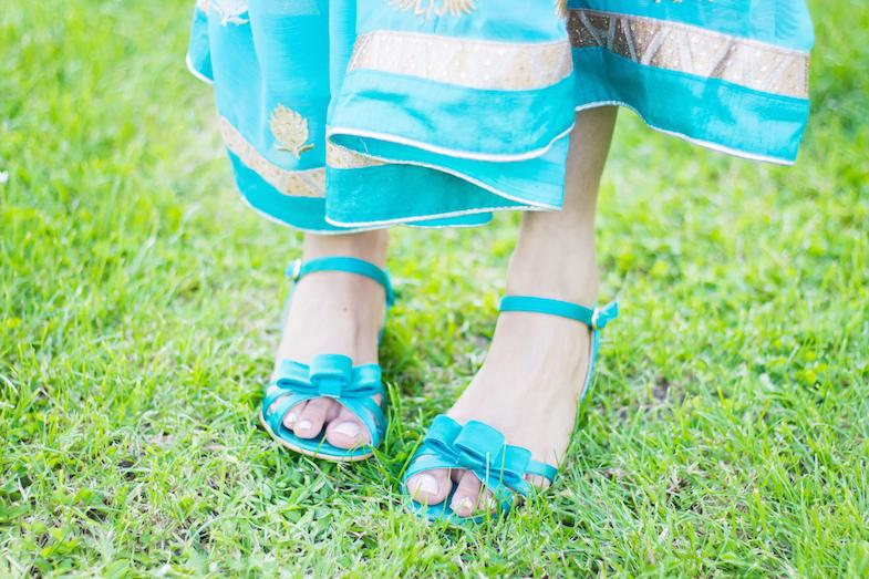 Sari turquoise-8