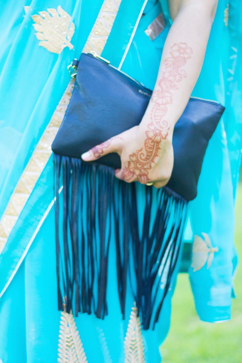 Sari turquoise-9