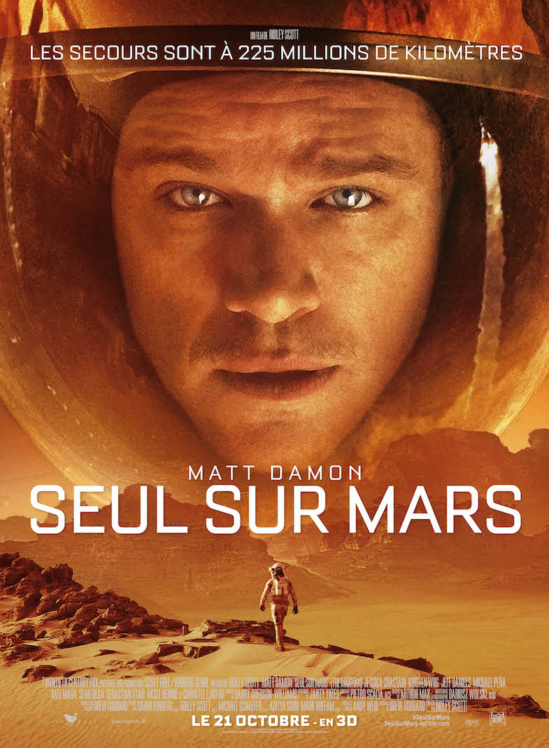 Affiche Critique seul sur mars blog Matt Damon