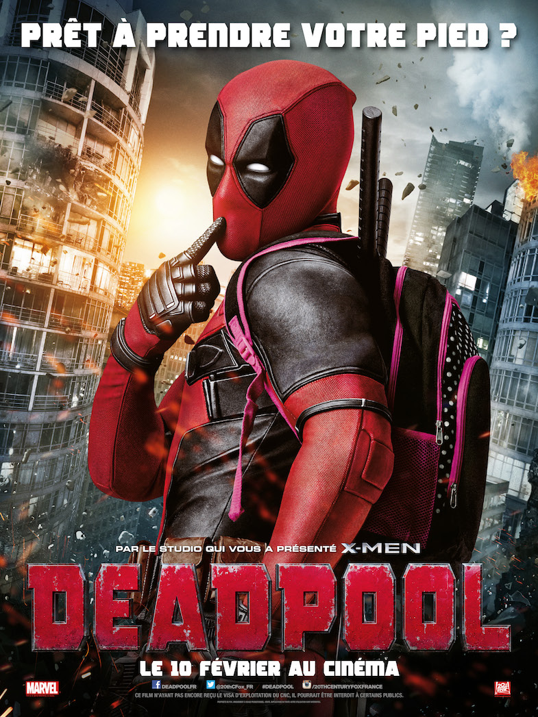 Affiche critique cinema film blog Deadpool