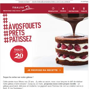 Thalys fête ses 20 ans! (concours inside)