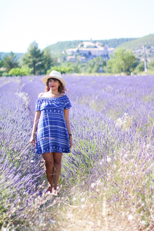 Champs lavande provence village Banon-7