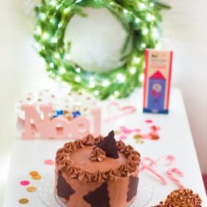 Le layer cake chocolat-orange pour Noël!