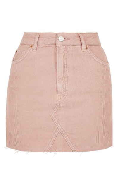 Jupe velours rose Topshop